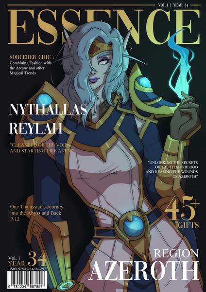 Anime Half Body Magazine Illustration