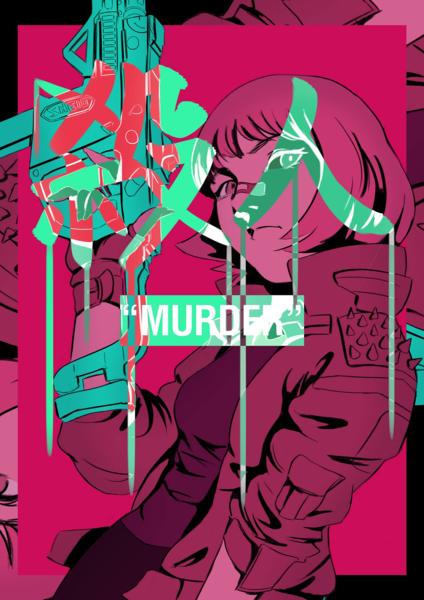 Cyberpunk Anime Style Illustration