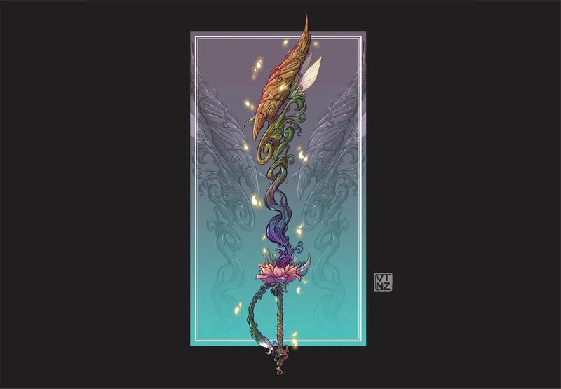 Colored Sketch : Close-Up