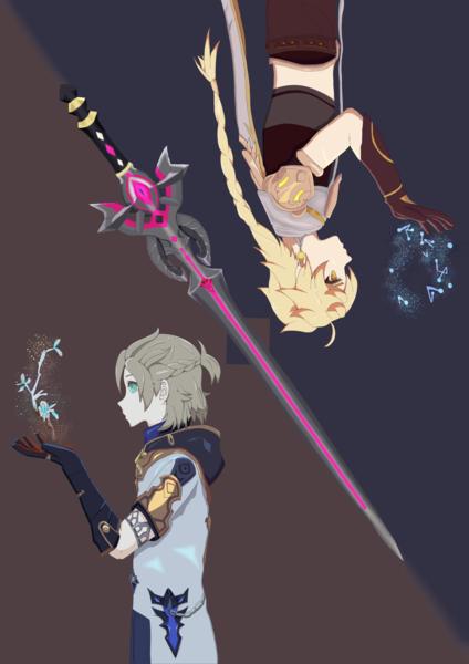 Halfbody Illustration With Background
