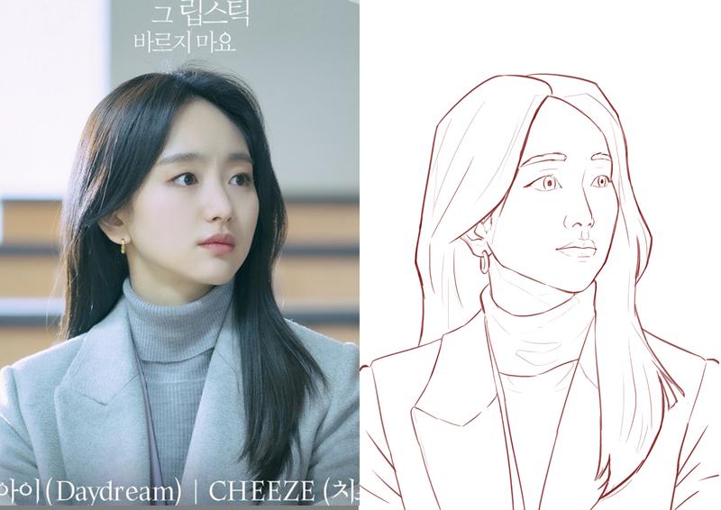 Sketch line art portrait