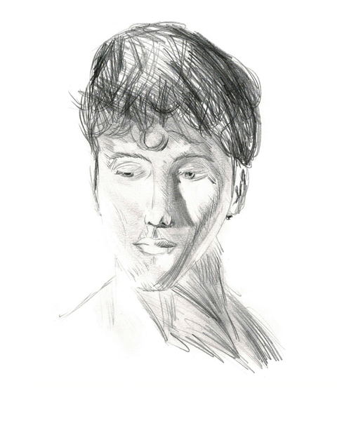 Portrait/character in half realistic style
