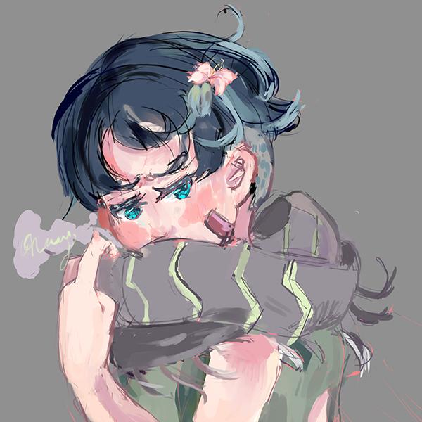 Sketchy portrait bust