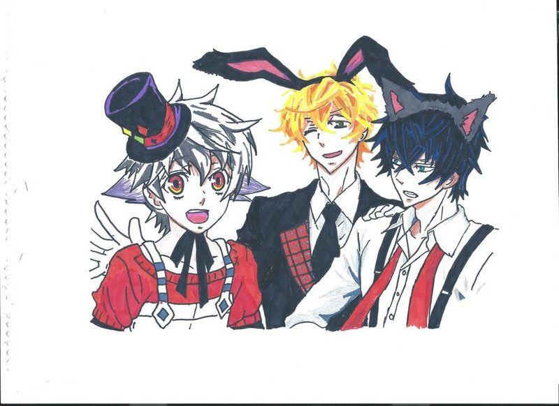 Group Anime Character drawing