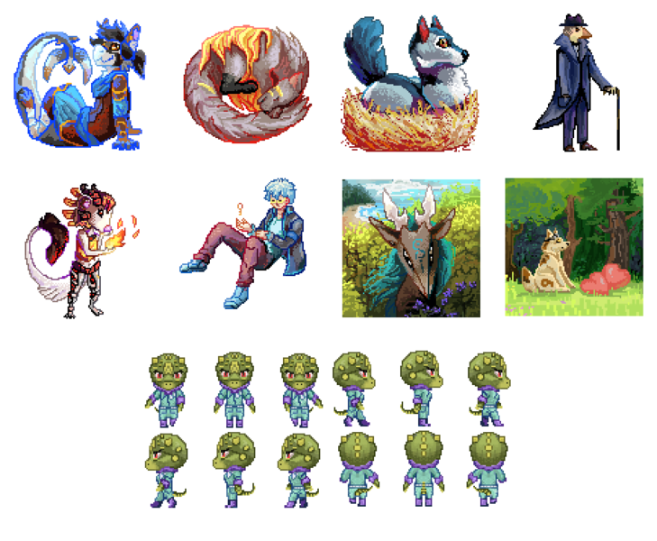 Pixel icon or sprite 100*100px