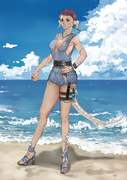 full body semi realist painting