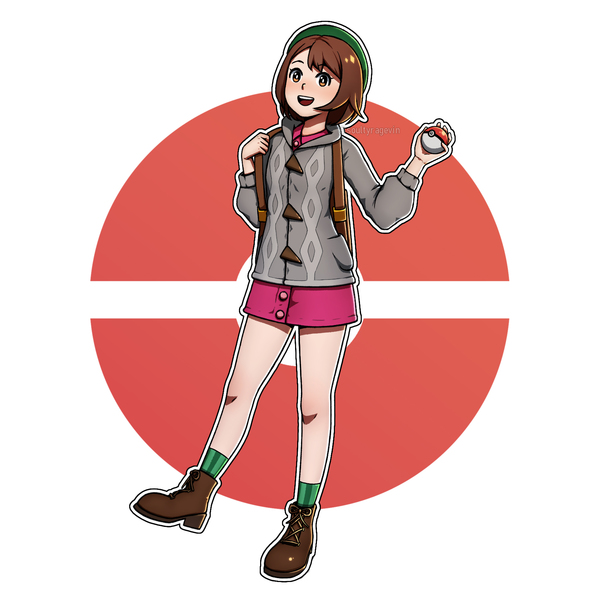 Full body Cartoonish-Anime Art (No background/transparent)