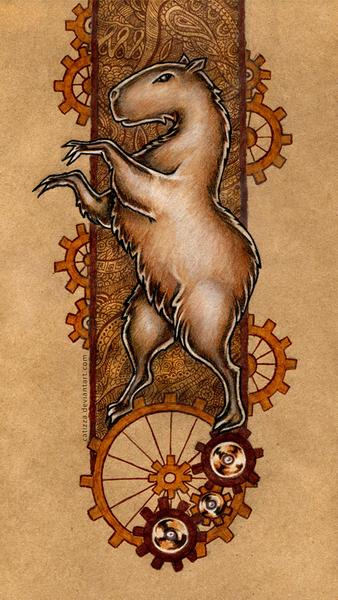 Full-colored heraldic creature