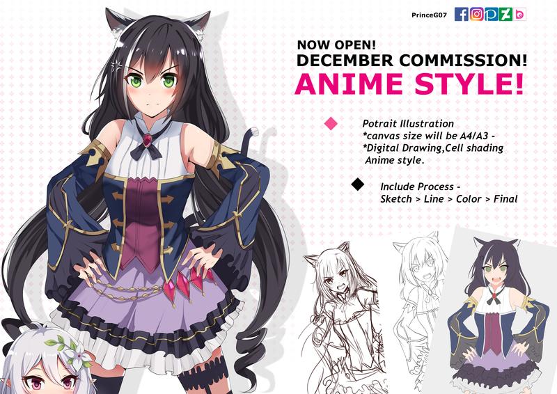 Anime Style Half Body