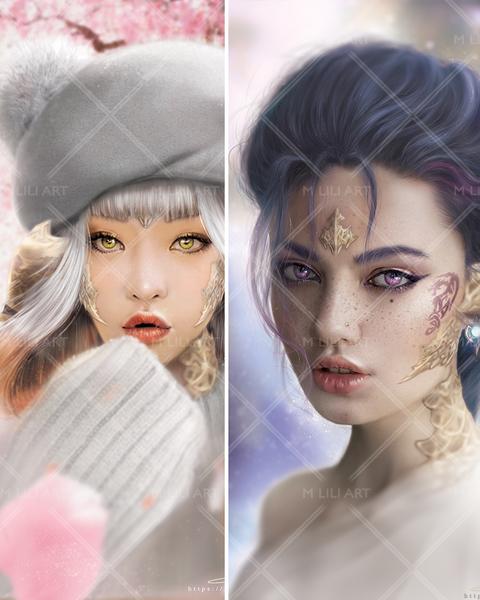 Fantasy Semi-Realistic Portrait