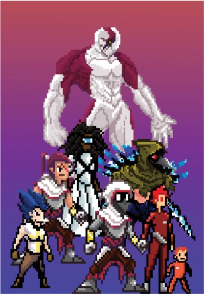 Pixel Art Characters Illustration