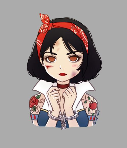 Colored Kawaii Portrait Sketch