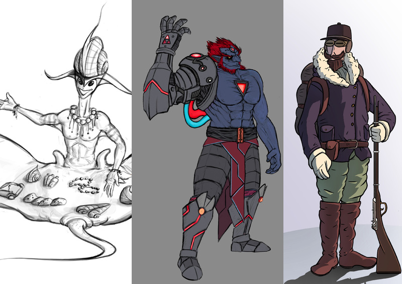 Character conceptualization illustration