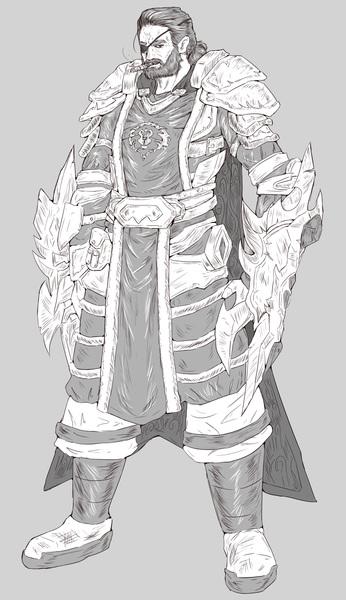 Fullbody Detailed clean Sketch #7