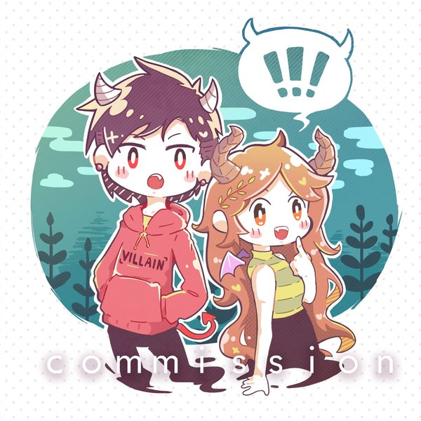Chibi couple illustration character