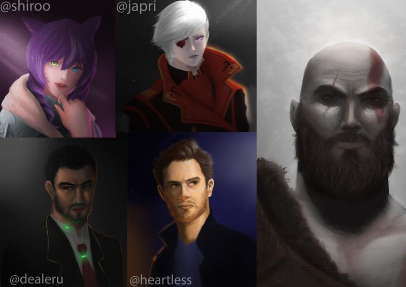 Character Headshot / Portrait Painting