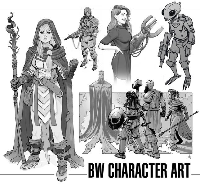 BW Character Art (nsfw ok)