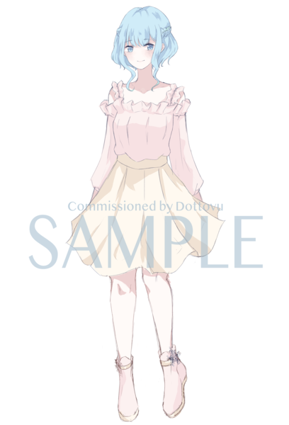 Anime Colored Sketch Full-Body