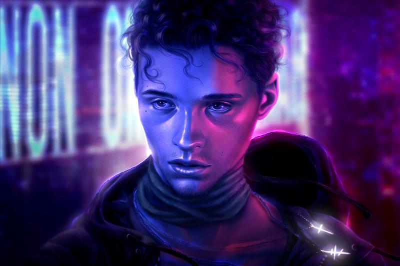 Realistic Neon Portrait