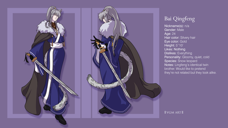 Colored character reference sheet