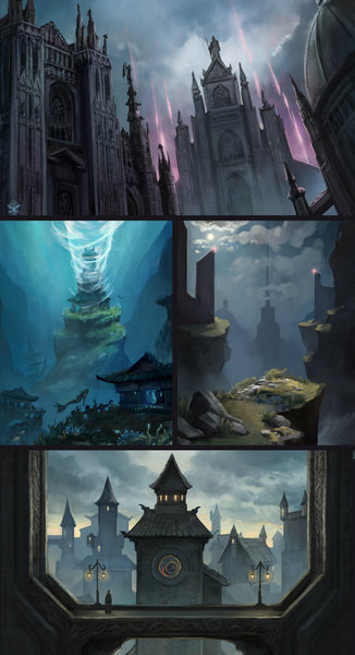 Fantasy/Scifi Enviroment Illustration