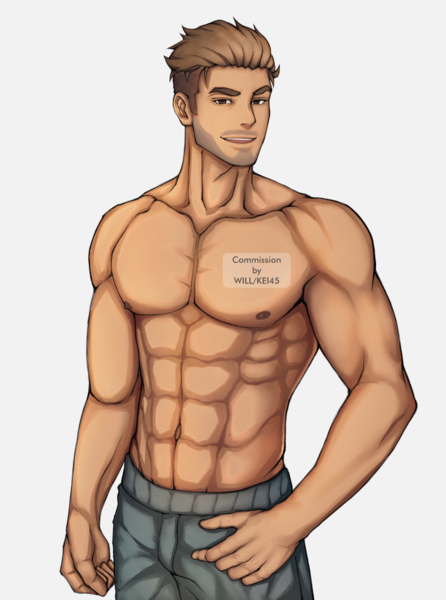Colored Half-body (with Shading)