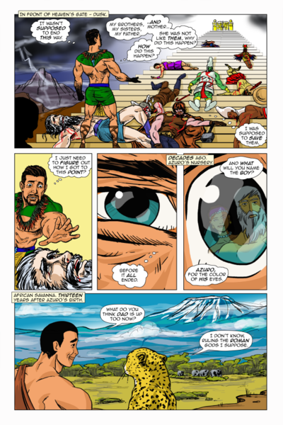Colorized Comic Book Page